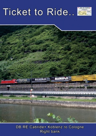 TTR122 Cabride+ RE part 2 RE Koblenz to Cologne right bank