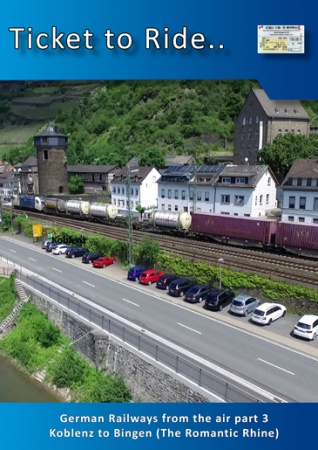 TTR234 German Railways from the air part 3 Koblenz to Bingen